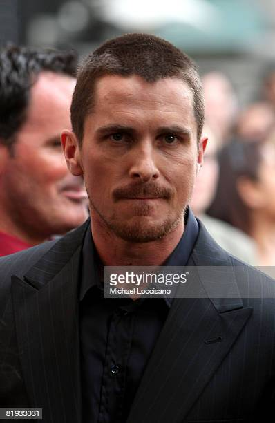 Actor Christian Bale attends the 'The Dark Knight' premiere at the AMC Loews Lincoln Square theater on July 14 2008 in New York City