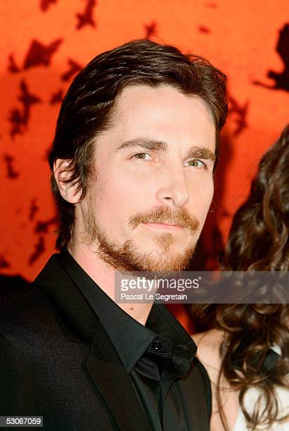 Actor Christian Bale poses as he attends the Batman Begins premiere on June 14 2005 in Paris France