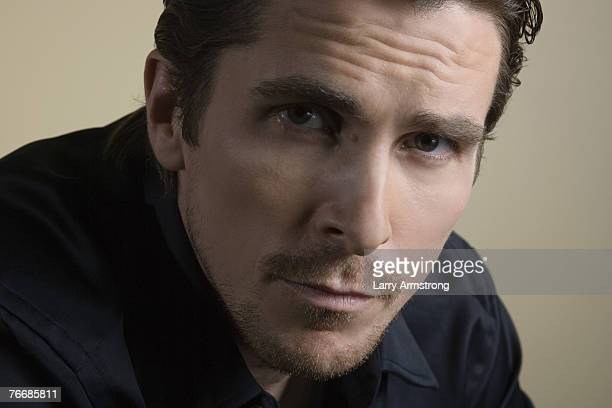 Actor Christian Bale poses at a portrait session for USA Today on September 5 2007 in Los Angeles CA Published image