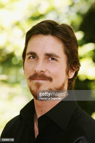 Actor Christian Bale poses during a photocall for Batman Begins on June 14 2005 in Paris France