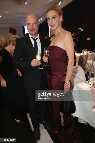 Actor Christian Berkel and actress Andrea Sawatzki attend the 2012 Bundespresseball at the Intercontinental Hotel on November 23 2012 in Berlin...