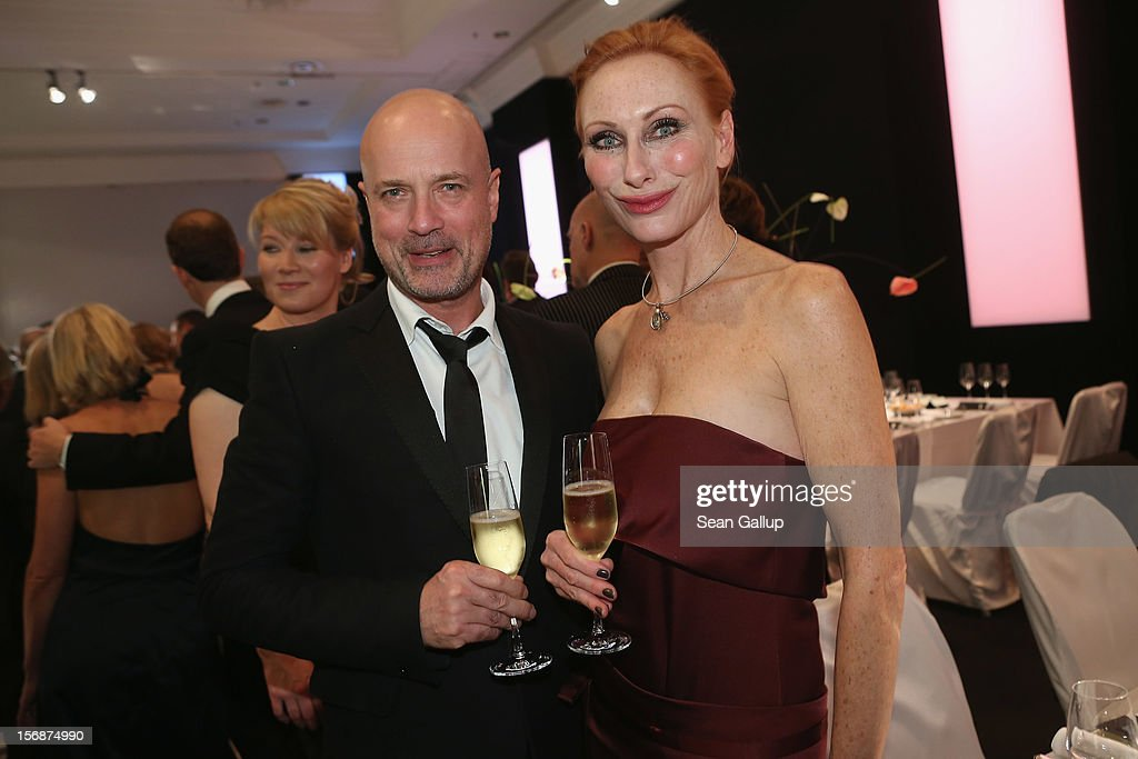 Actor Christian Berkel and actress Andrea Sawatzki attend the 2012 Bundespresseball (Federal Press Ball) at the Intercontinental Hotel on November 23, 2012 in Berlin, Germany.