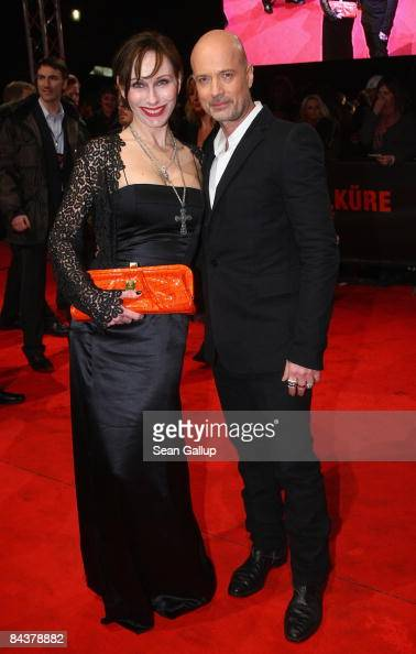 Actor Christian Berkel and actress Andrea Sawatzki attend the European premiere of 'Valkyrie' on January 20 2009 in Berlin Germany