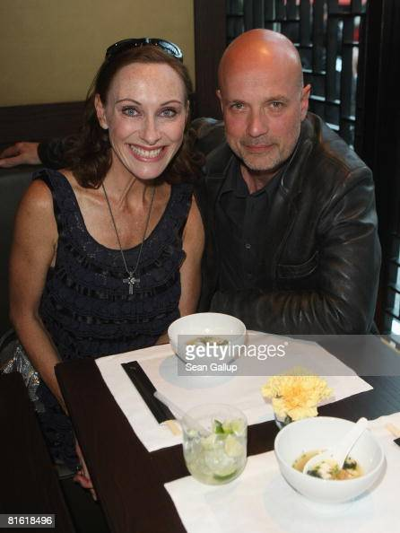 Actor Christian Berkel and actress Andrea Sawatzki attend the opening of the Mar Uma and Sochu restaurant and bar on June 18 2008 in Berlin Germany