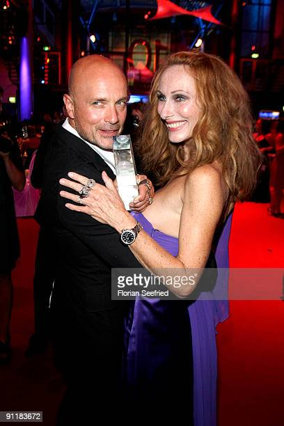 Actor Christian Berkel and wife actress Andrea Sawatzki attend the after show party of the German TV Award 2009 at the Coloneum on September 26 2009...