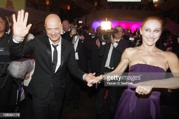 Actor Christian Berkel and wife/actress Andrea Sawatzki attend the 'Deutscher Filmball 2011' Gala at Hotel Bayerischer Hof on January 15 2011 in...