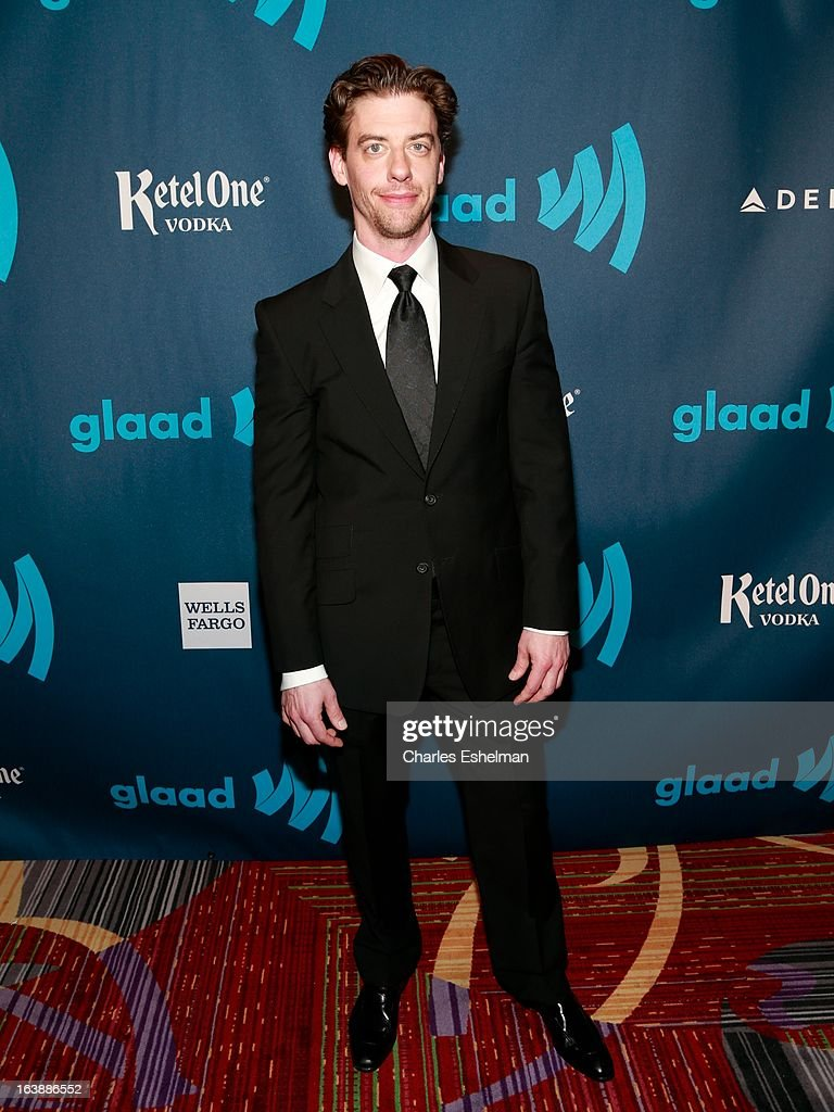 Actor <a gi-track='captionPersonalityLinkClicked' href=/galleries/search?phrase=Christian+Borle&family=editorial&specificpeople=2530960 ng-click='$event.stopPropagation()'>Christian Borle</a> attends the 24th annual GLAAD Media awards at The New York Marriott Marquis on March 16, 2013 in New York City.