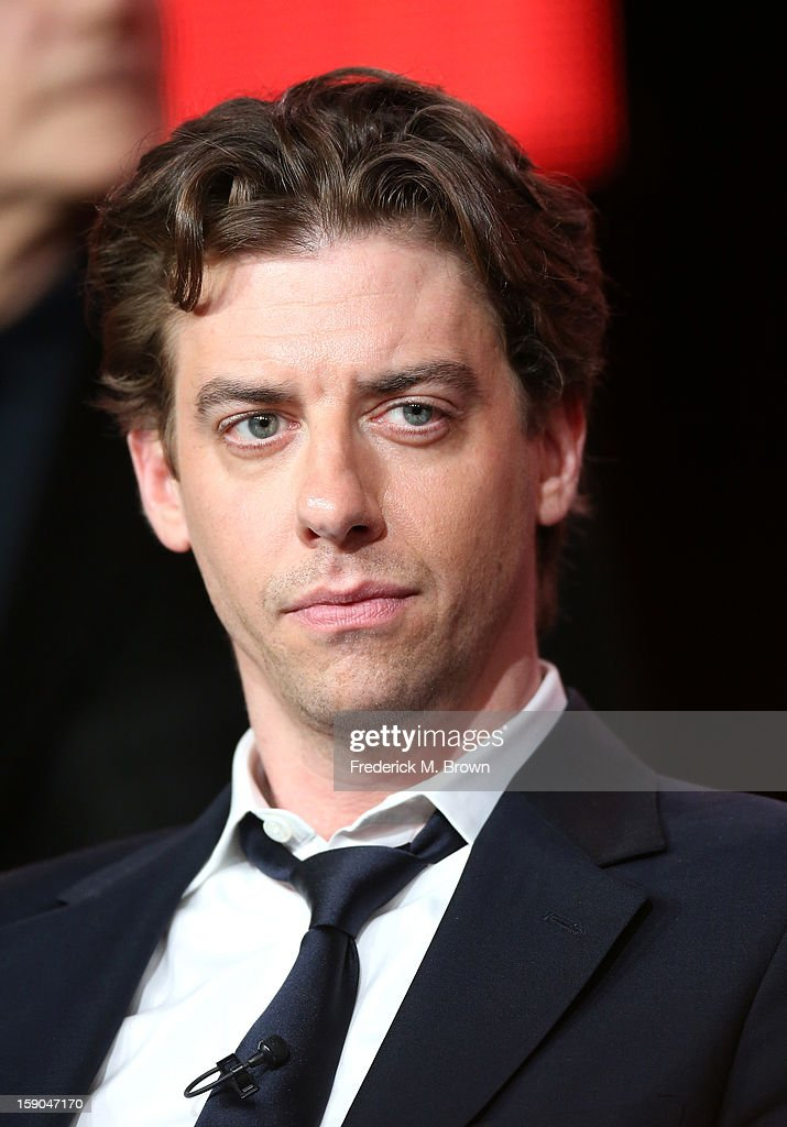 Actor Christian Borle speaks onstage at the 'Smash' panel discussion during the NBCUniversal portion of the 2013 Winter TCA Tour- Day 3 at the Langham Hotel on January 6, 2013 in Pasadena, California.