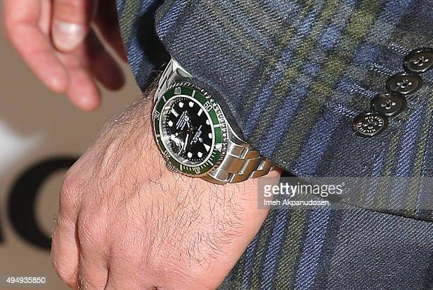 Actor Christian Cooke Rolex watch detail attends the premiere of Crackle's 'The Art Of More' at Sony Pictures Studios on October 29 2015 in Culver...