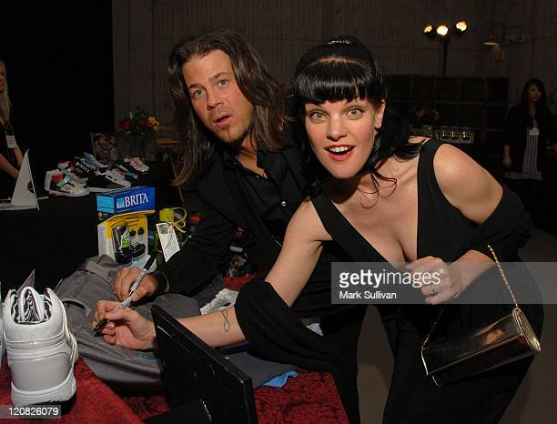 Actor Christian Kane and actress Pauley Perrette attend Backstage Creations celebrity retreat at the 2009 College Television Awards on March 21 2009...