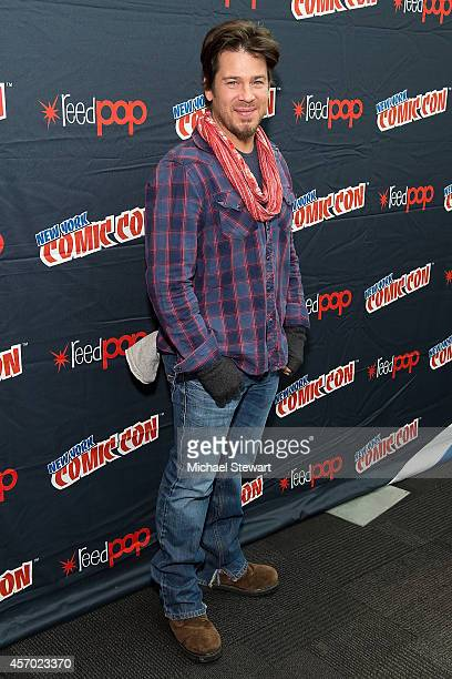 Actor Christian Kane attends TNT Network's 'The Librarians' press room during 2014 New York Comic Con Day 2 at Jacob Javitz Center on October 10 2014...