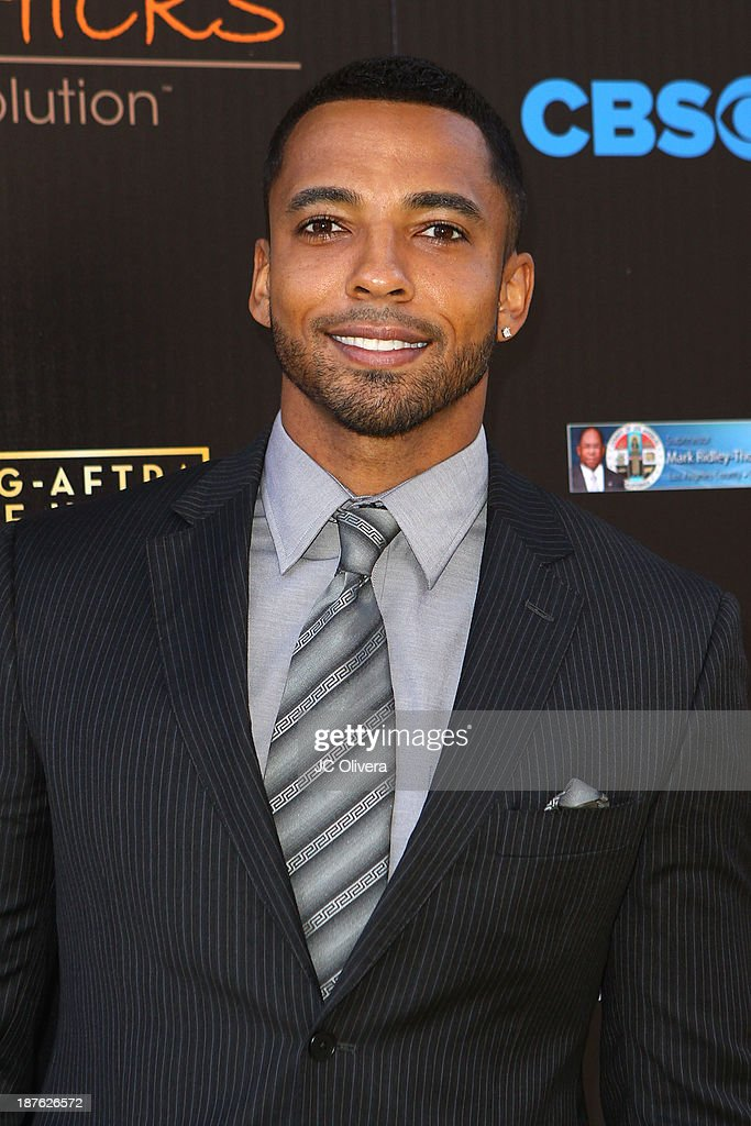 Actor Christian Keyes attends The 6th Annual Diamond In The RAW-Action Icon Awards at Skirball Cultural Center on November 10, 2013 in Los Angeles, California.
