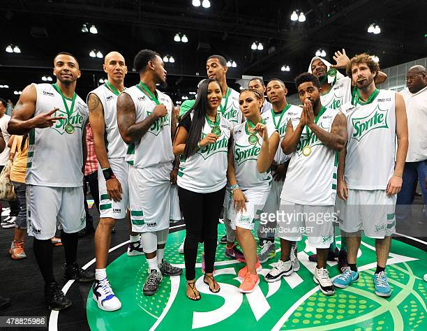 Actor Christian Keyes former NBA player Doug Christie former NBA player Daniel 'Boobie' Gibson Harlem Globetrotter Tammy TTime professional dunker...