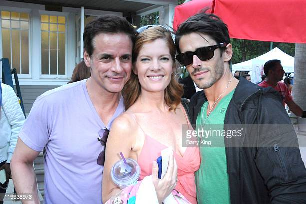 Actor Christian LeBlanc actress Michelle Stafford and actor Brandon Beemer attend the Los Angeles Philharmonic and Venice Magazine's 11th Annual...
