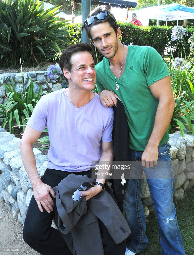 Actor <a gi-track='captionPersonalityLinkClicked' href=/galleries/search?phrase=Christian+LeBlanc&family=editorial&specificpeople=624082 ng-click='$event.stopPropagation()'>Christian LeBlanc</a> and actor <a gi-track='captionPersonalityLinkClicked' href=/galleries/search?phrase=Brandon+Beemer&family=editorial&specificpeople=4192236 ng-click='$event.stopPropagation()'>Brandon Beemer</a> attend the Los Angeles Philharmonic and Venice Magazine's 11th Annual Hollywood Bowl Pre-Concert Picnic held at Camrose Picnic area on July 26, 2011 in Hollywood, California.