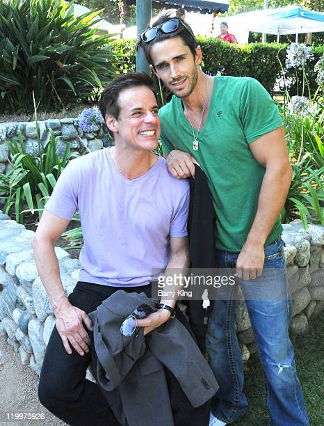 Actor Christian LeBlanc and actor Brandon Beemer attend the Los Angeles Philharmonic and Venice Magazine's 11th Annual Hollywood Bowl PreConcert...