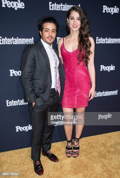 Actor Christian Navarro and guest attend Entertainment Weekly People New York Upfronts at 849 6th Ave on May 15 2017 in New York City
