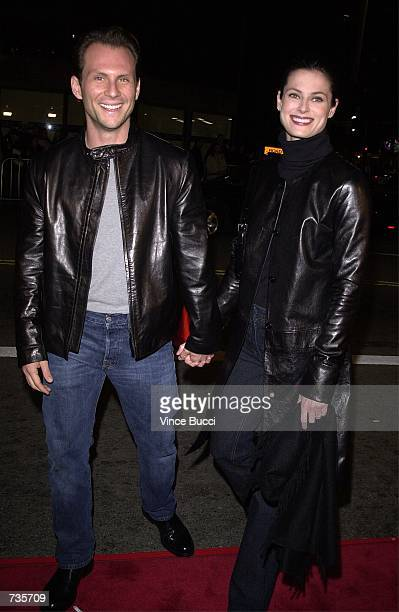 Actor Christian Slater and wife Ryan Haddon arrive at the premiere of 'The Sixth Day' November 13 2000 in Westwood CA