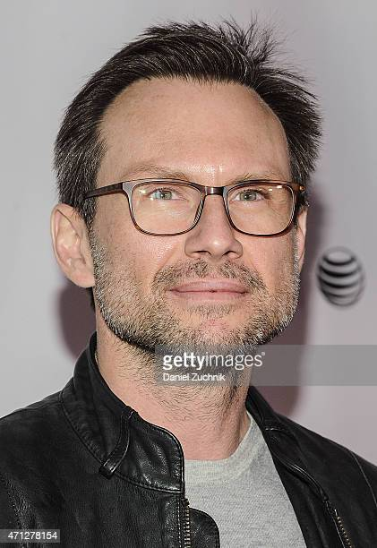 Actor Christian Slater attends the 2015 Tribeca Film Festival Tribeca Talks 'Mr Robot' at Chelsea Bow Tie Cinemas on April 26 2015 in New York City