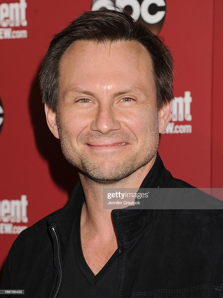 Actor <a gi-track='captionPersonalityLinkClicked' href=/galleries/search?phrase=Christian+Slater&family=editorial&specificpeople=201651 ng-click='$event.stopPropagation()'>Christian Slater</a> attends the Entertainment Weekly & ABC 2013 New York Upfront Party at The General on May 14, 2013 in New York City.