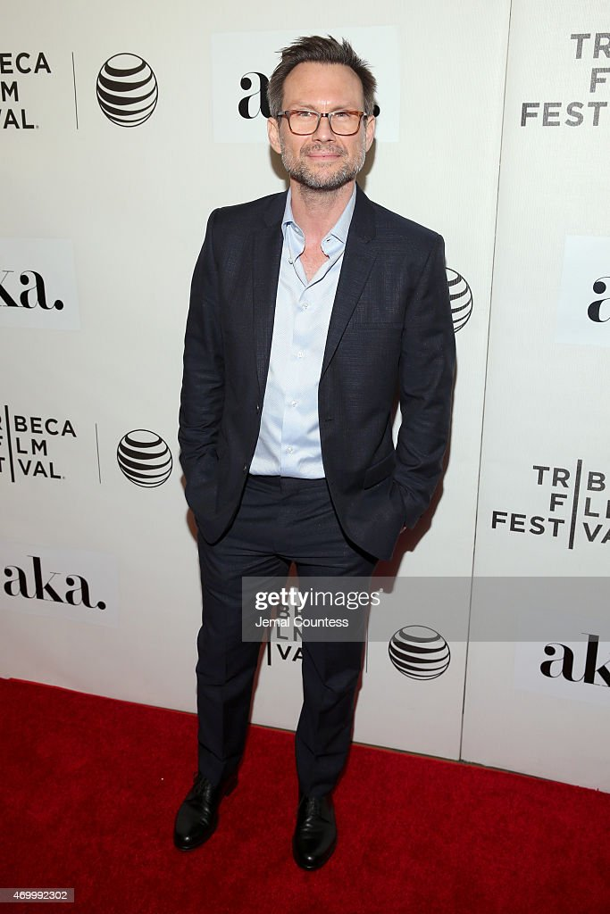 Actor Christian Slater attends the premiere of 'The Adderall Diaries' during the 2015 Tribeca Film Festival at BMCC Tribeca PAC on April 16, 2015 in New York City.