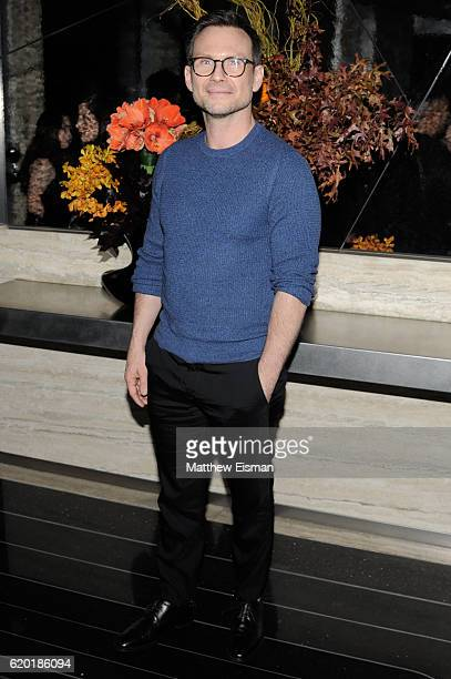 Actor Christian Slater attends the screening of Marvel Studios' 'Doctor Strange' after party at Bar SixtyFive on November 1 2016 in New York City