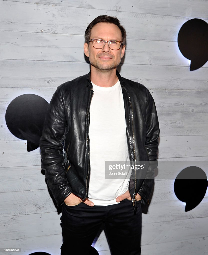 Actor Christian Slater attends the VIP sneak peek of the go90 Social Entertainment Platform at the Wallis Annenberg Center for the Performing Arts on September 24, 2015 in Los Angeles, California.