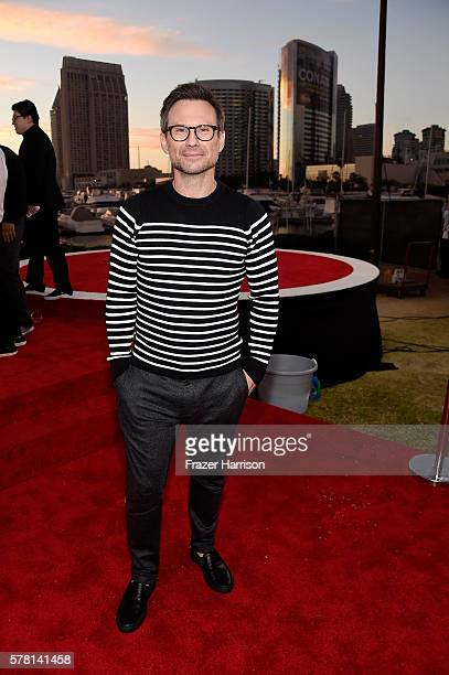"Actor Christian Slater attends the world premiere of the Paramount Pictures title ""Star Trek Beyond"" at Embarcadero Marina Park South on July 20 2016..."