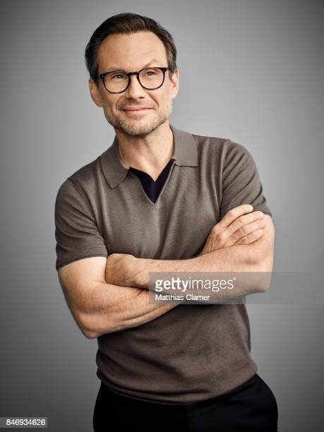 Actor Christian Slater from 'Mr Robot' is photographed for Entertainment Weekly Magazine on July 21 2016 at Comic Con in the Hard Rock Hotel in San...