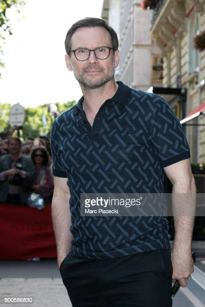 Actor Christian Slater is seen on June 24 2017 in Paris France