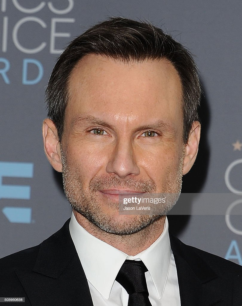 Actor Christian Slater poses in the press room at the 21st annual Critics' Choice Awards at Barker Hangar on January 17, 2016 in Santa Monica, California.