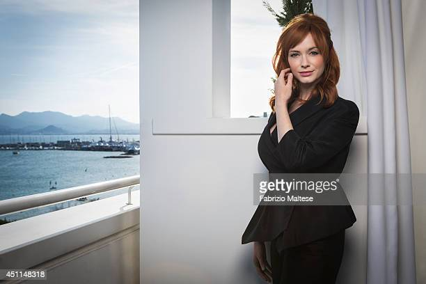 Actor Christina Hendricks is photographed for the Hollywood Reporter in Cannes France
