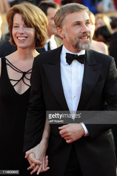 Actor Christoph Waltz and guest arrive to the 16th Annual Screen Actors Guild Awards held at The Shrine Auditorium on January 23 2010 in Los Angeles...