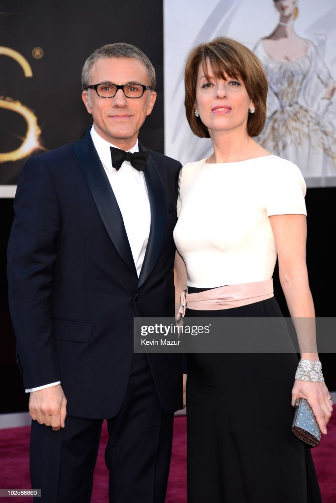 Actor <a gi-track='captionPersonalityLinkClicked' href=/galleries/search?phrase=Christoph+Waltz&family=editorial&specificpeople=4276914 ng-click='$event.stopPropagation()'>Christoph Waltz</a> and Judith Holste arrive at the Oscars held at Hollywood & Highland Center on February 24, 2013 in Hollywood, California.