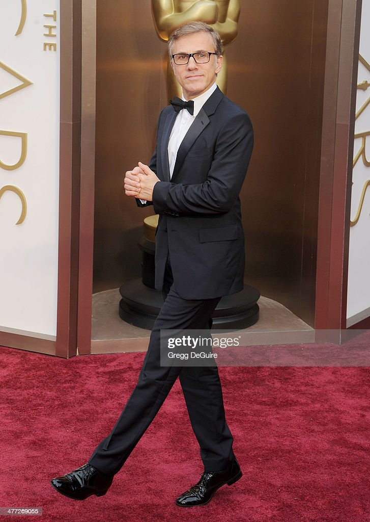 Actor Christoph Waltz arrives at the 86th Annual Academy Awards at Hollywood & Highland Center on March 2, 2014 in Hollywood, California.
