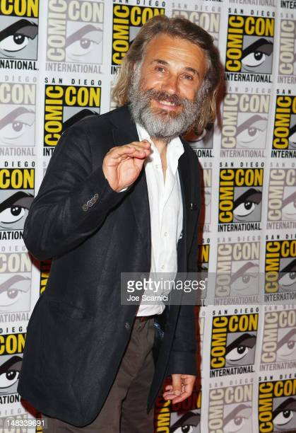 Actor Christoph Waltz attends 'Django Unchained' at ComicCon 2012 at Hilton San Diego Bayfront Hotel on July 14 2012 in San Diego California