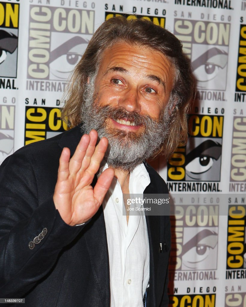 Actor Christoph Waltz attends 'Django Unchained' at Comic-Con 2012 at Hilton San Diego Bayfront Hotel on July 14, 2012 in San Diego, California.