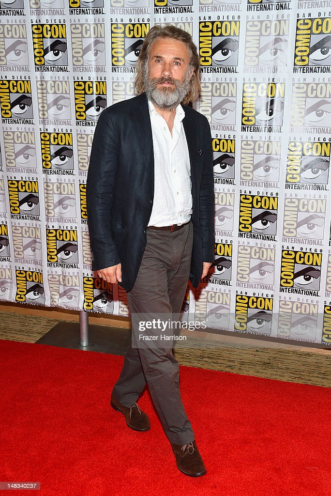 Actor <a gi-track='captionPersonalityLinkClicked' href=/galleries/search?phrase=Christoph+Waltz&family=editorial&specificpeople=4276914 ng-click='$event.stopPropagation()'>Christoph Waltz</a> attends 'DJango Unchained' Press Line during Comic-Con International 2012 at Hilton San Diego Bayfront Hotel on July 14, 2012 in San Diego, California.