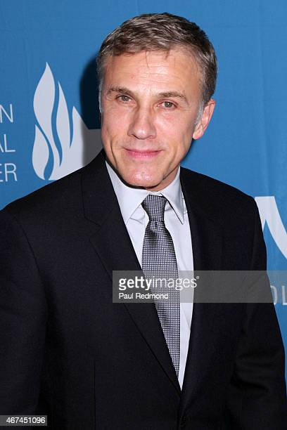 Actor Christoph Waltz attends Simon Wiesenthal Center National Tribute Dinner at The Beverly Hilton Hotel on March 24 2015 in Beverly Hills California