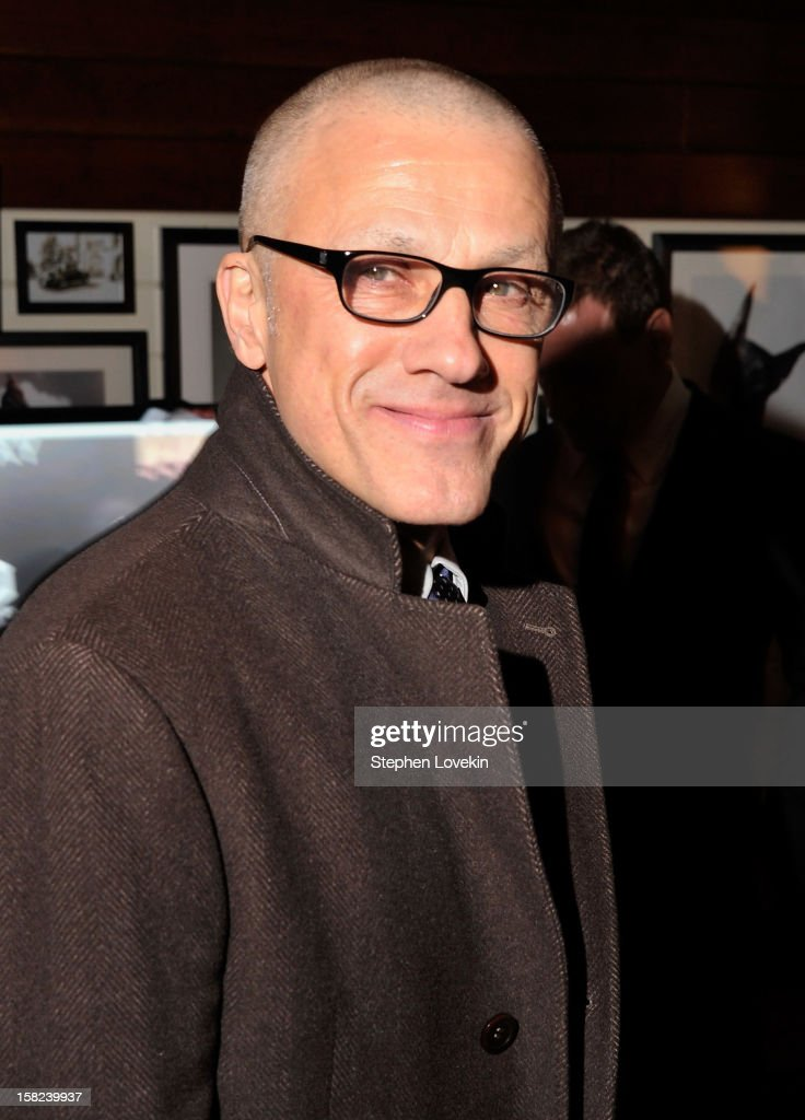 Actor Christoph Waltz attends the after party for a screening 'Django Unchained' hosted by The Weinstein Company With The Hollywood Reporter, Samsung Galaxy And The Cinema Society at The High Line Room in The Standard Hotel on December 11, 2012 in New York City.