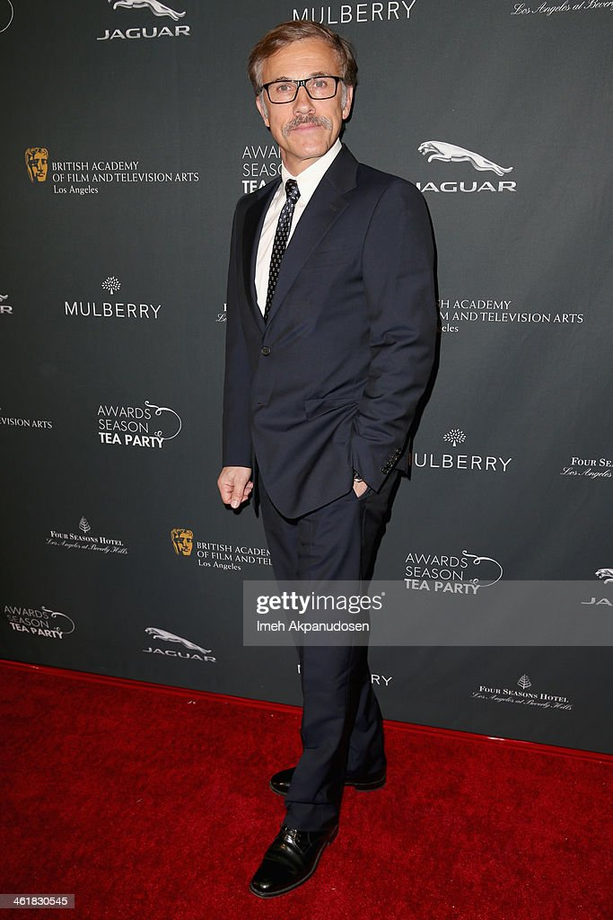Actor Christoph Waltz attends the BAFTA LA 2014 Awards Season Tea Party at the Four Seasons Hotel Los Angeles at Beverly Hills on January 11, 2014 in Beverly Hills, California.