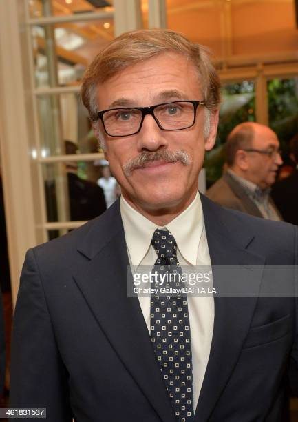 Actor Christoph Waltz attends the BAFTA LA 2014 Awards Season Tea Party at the Four Seasons Hotel Los Angeles at Beverly Hills on January 11 2014 in...