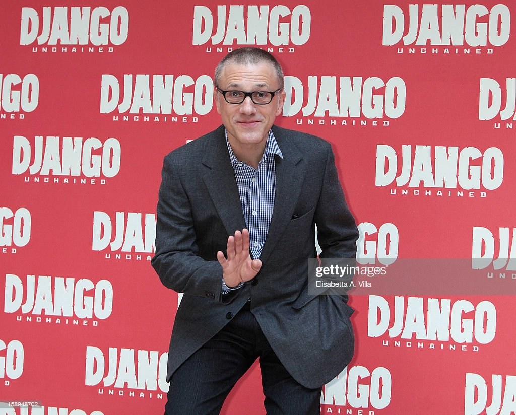 Actor Christoph Waltz attends the 'Django Unchained' photocall at the Hassler Hotel on January 4, 2013 in Rome, Italy.