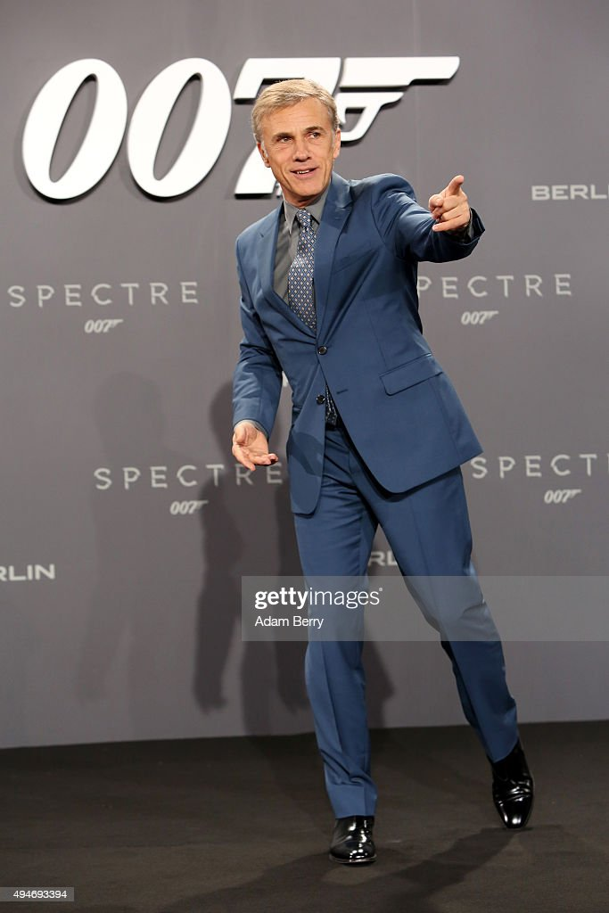 Actor Christoph Waltz attends the German premiere of the new James Bond movie 'Spectre' at CineStar on October 28, 2015 in Berlin, Germany.