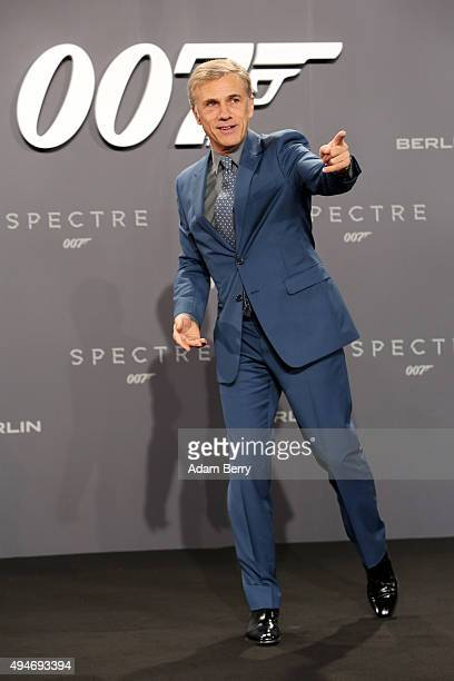 Actor Christoph Waltz attends the German premiere of the new James Bond movie 'Spectre' at CineStar on October 28 2015 in Berlin Germany