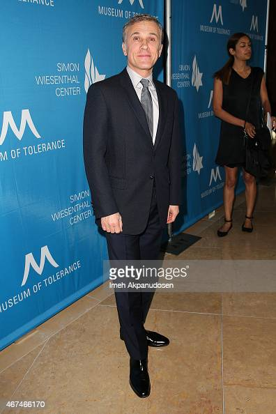 Actor Christoph Waltz attends the Simon Wiesenthal Center 2015 National Tribute Dinner honoring Harvey Weinstein at The Beverly Hilton Hotel on March...