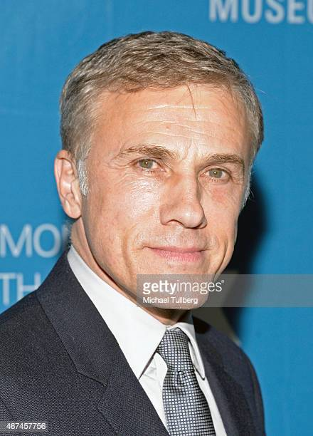 Actor Christoph Waltz attends the Simon Wiesenthal Center's 2015 National Tribute Dinner honoring Harvey Weinstein at The Beverly Hilton Hotel on...