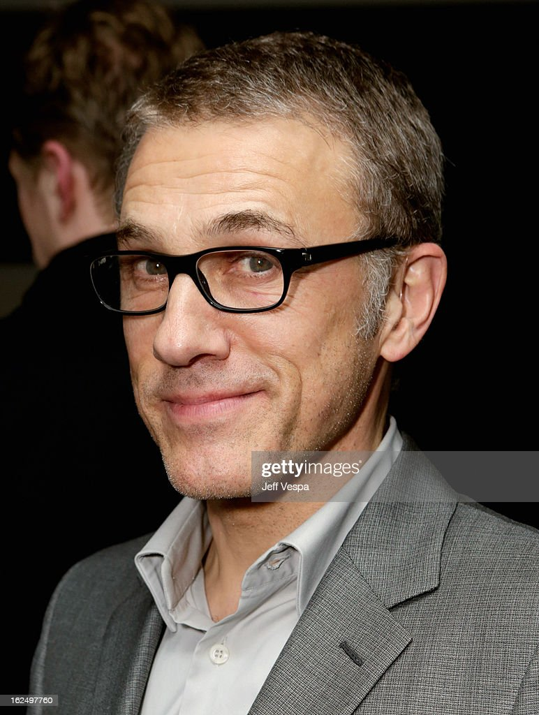 Actor <a gi-track='captionPersonalityLinkClicked' href=/galleries/search?phrase=Christoph+Waltz&family=editorial&specificpeople=4276914 ng-click='$event.stopPropagation()'>Christoph Waltz</a> attends The Weinstein Company Academy Award Party hosted by Chopard at Soho House on February 23, 2013 in West Hollywood, California.