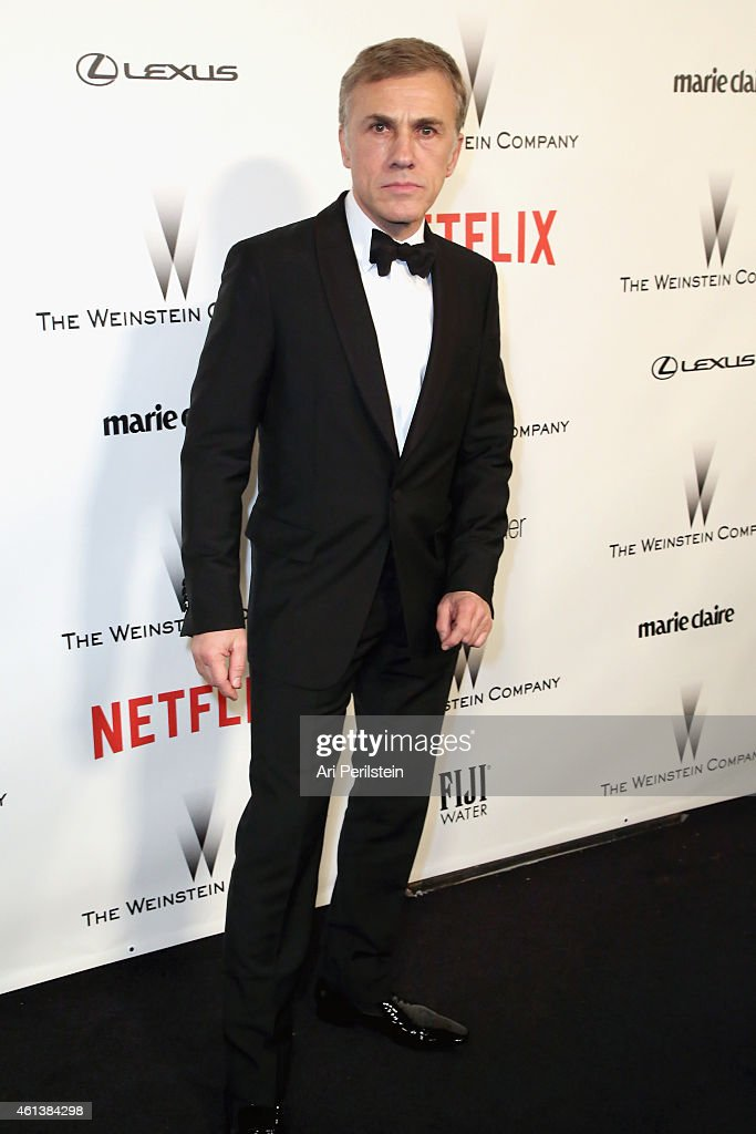 Actor <a gi-track='captionPersonalityLinkClicked' href=/galleries/search?phrase=Christoph+Waltz&family=editorial&specificpeople=4276914 ng-click='$event.stopPropagation()'>Christoph Waltz</a> attends The Weinstein Company & Netflix's 2015 Golden Globes After Party presented by FIJI Water, Lexus, Laura Mercier and Marie Claire at The Beverly Hilton Hotel on January 11, 2015 in Beverly Hills, California.