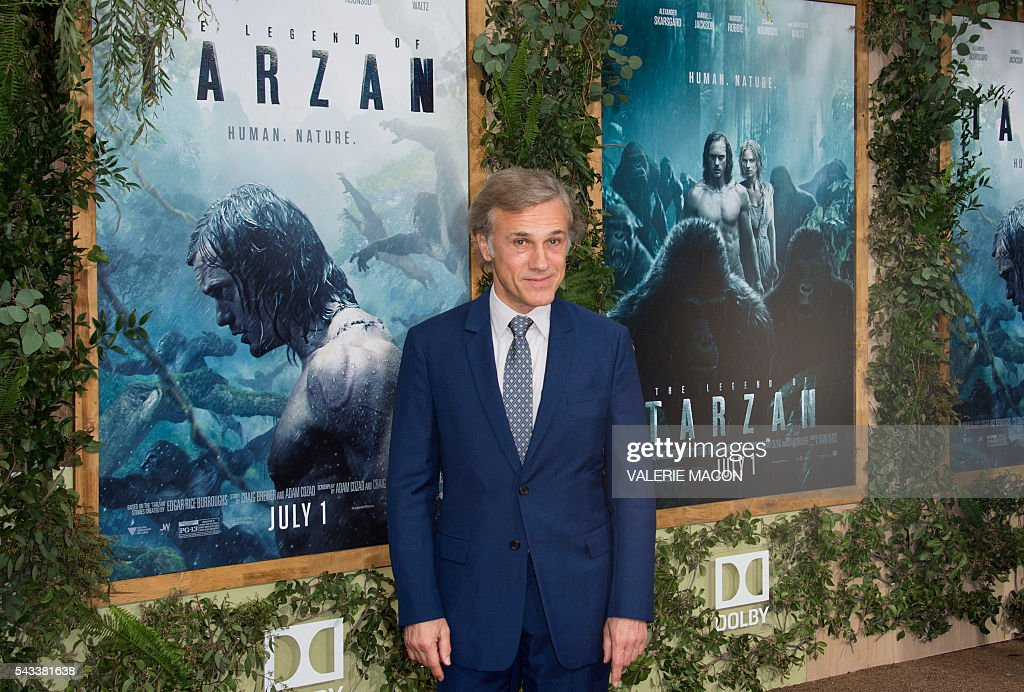 Actor Christoph Waltz attends the world premiere of 'The Legend of Tarzan' in Hollywood, California, on June 27, 2016. / AFP / VALERIE